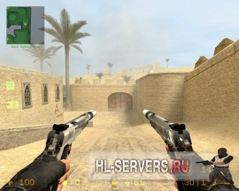 Модель двух пистолетов из игры Hitman для CSS