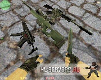 Пак стандартных моделей оружия CS 1.6