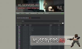 Шаблон HL-SERVERS.RU (для SourceBans)