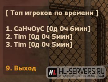 Плагин Time Play для CS:GO
