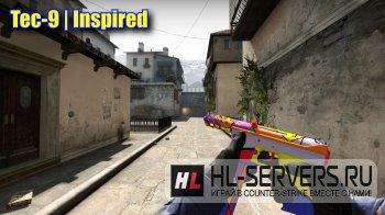 """Модель оружия Tec-9 """"Inspired"""" для CS:GO"""