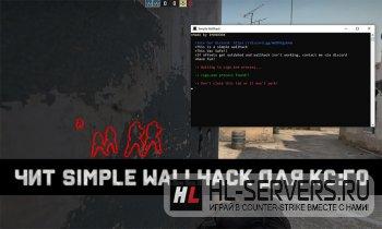 Simple Wallhack чит CS:GO